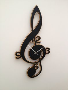 Clef Music Clock by neltempo on Etsy