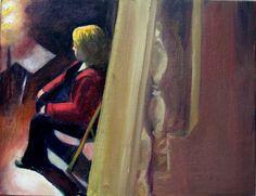 H  Λαμπρινή στο φως /  Lambrini under  the light  λάδι σε καμβά /  oil on canvas 35.0*45.0*3.0 cm