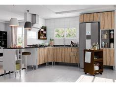 Cozinha Completa Líder Casa Aroma com Balcão - 8 Portas 3 Gavetas com as melhores condições você encontra no Magazine Tonyroma. Confira!