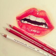 amazing lip drawing