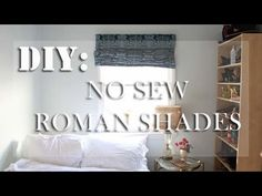 No Sew Roman Shades //DIY