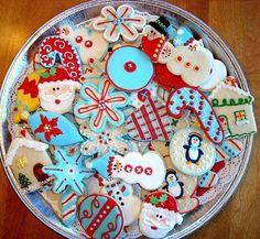 I baked Christmas cookies!