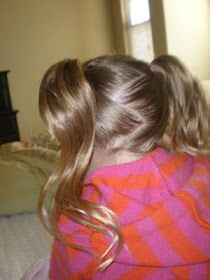 Girl Hairdos & Ideas: Pigtails, curled