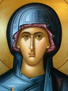 Saint Parascheva / Sf. Parascheva, detaliu - Ierom. Mihail