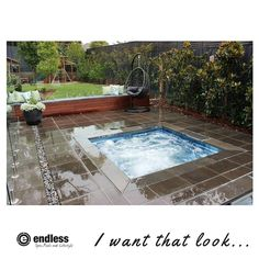 Plunge Pool Melbourne, EdgeCap Technology, Inground Spas with Coping Tile, Pool Coping tiles Pool Spa, Outdoor Spa, Indoor Outdoor, Endless Spas, Pool Coping Tiles, In Ground Spa, Hot Tub Time Machine, Pool Installation, Plunge Pool