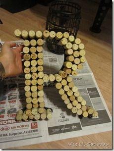 DIY Wine Cork Monogrammed Letter