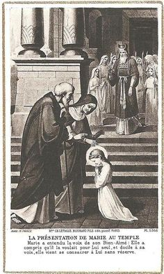 Presentation of Mary at the Temple: Mary was dedicated to God from the beginning! #SaintOfTheDay
