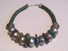 Tribal turquoise donuts and coin silver ball by tribalgallery