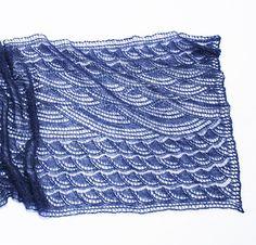 """""""High Seas"""" knit shawl pattern by Kieran Foley"""