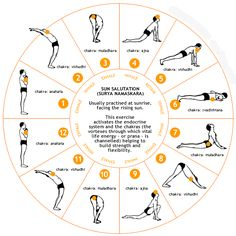 (Surya namaskar or the infamous sun salutation) Surya' in Hindi means sun and 'namaskar' means salutation. Surya namaskar or sun salutation is an excellent way to begin your Yoga Inspiration, Fitness Inspiration, Fitness Workouts, Yoga Fitness, Fitness Weightloss, Health Fitness, Workout Gear, Boxing Workout, 3 Chakra