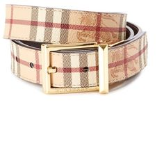 f19a5448c89 Burberry Burberry Webster Reversible Haymarket Check Belt (402590901)  ( 309) ❤ liked on