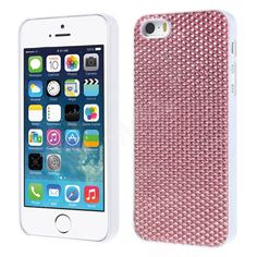 Sparkling Gel Crystal Designer Hard Back Case for iPhone 5 5s  - Silver Pink - Be the cynosure of all eyes!