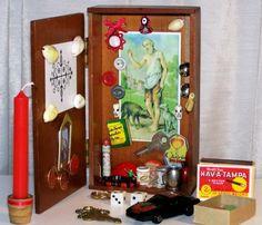 Elegua - Papa Legba Shrine \/ Voodoo Vodou Altar \/ Retablo \/ Sts. Peter and Lazarus Catholic Icons \/ Ritual Supplies \/ Toys, Game Pieces...