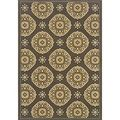 Outdoor/Indoor Grey/Gold Casual Area Rug | Overstock.com Shopping - The Best Deals on 7x9 - 10x14 Rugs