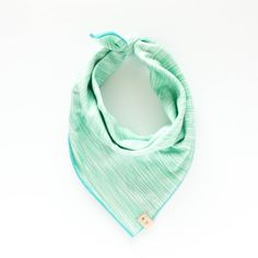 LULU. Dog bandana or baby bib in double brushed spandex jersey knit in milana mint with turquoise trim. Sizes: XS - XL. Sporty activewear for puppies and babies. $26