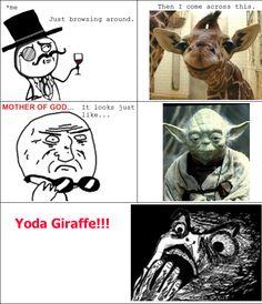 Yoda Giraffe. Pinned From Junglegag - Click for more!