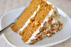 Carrot Cake | I made this for Easter and I am literally still swooning over it. It was AMAZING.
