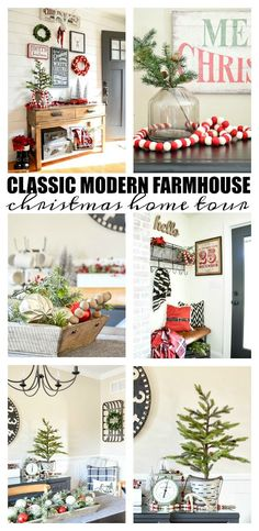 a beautiful and classic modern farmhouse decorated christmas home tour christmas christmas home