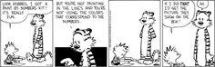 Calvin & Hobbes - art outside the box