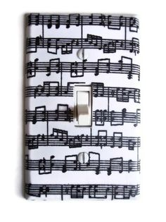 Musical Notes Single Toggle Switchplate by PopGoesTheColor on Etsy, $6.95
