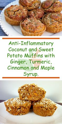 Recipes Snacks Muffins Anti-Inflammatory Coconut and Sweet Potato Muffins with Ginger, Turmeric, Cinnamon and Maple Syrup Healthy Muffins, Healthy Baking, Healthy Desserts, Healthy Recipes, Coconut Muffins, Healthy Food, Sweet Potato Recipes Healthy, Healthy Weight, Gluten Free Baking