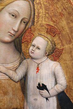 Maestro della Madonna Straus - Madonna col bambino, dettaglio - 1385-90 ca.- Bonnefanten Museum,  Maastricht, Netherlands