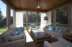 Design Serendipity Interiors, Screened in Porch, Trina Turk Pillows,