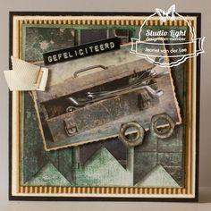 Hetzelfde maar toch net even anders gemaakt door Jeanet van der Lee Studio Lighting, Masculine Cards, Vintage Photos, Van, Photo Ideas, Card Ideas, Man Card, Shots Ideas, Vans