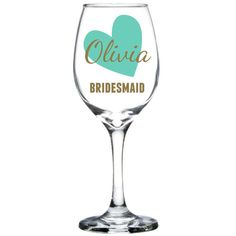 I Heart You Bridesmaid Proposal Custom Wine by MadOliveShop
