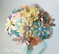 Amelie, un Bouquet en tonos pastel para novias románticas.