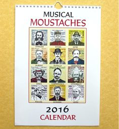 2016 calendar MOUSTACHES of CLASSICAL COMPOSERS by PaulHelm