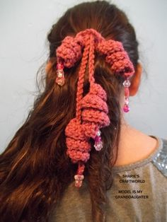 Crochet Curly Q Hair Ties : ... curly hair tie crochet $ 2 75 via etsy curly hair tie crochet see more