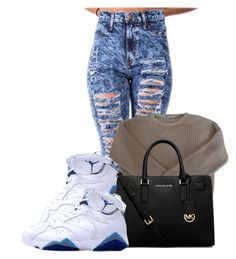 """Stay Chill Day"" by pinkswagg15 ❤ liked on Polyvore featuring moda, American Apparel e MICHAEL Michael Kors"