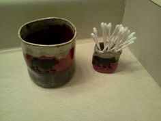 cup and toothpick holder set for bathroom