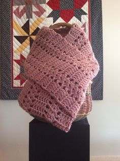 The Simplicity Stitch Infinity Scarf, pattern from Annie's 100 Quick and Easy Crochet Stitches