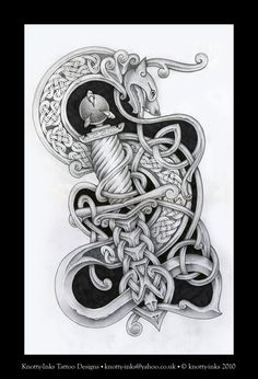 dragon and dagger celtic knot by Tattoo-Design on DeviantArt