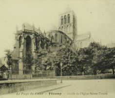 French Antique Postcard - The Church at Fécamp Abbey, Normandy, France by ChicEtChoc on Etsy
