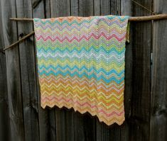 Points Up and Down Baby Blanket