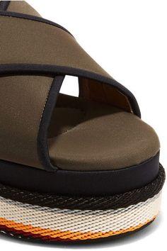 Marni - Neoprene Platform Sandals - Army green - IT