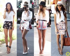 Look do Dia = Saia ou Shorts Estampado + Blusa Branca