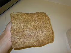 Flaxseed Wraps - a delicious, grain-free, low-carb bread alternative. I make mine round, not square.