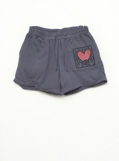 Kids Girls Keith Haring Heart Shorts