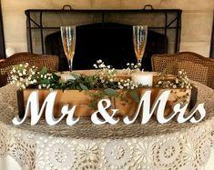 Unpainted Wall Hanging-Wedding or Nursery Monogram-Custom made Wooden monogram-Personalized Letters-Wreath-Door Hanging