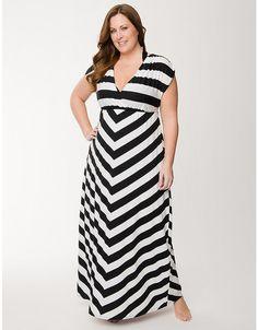 Plus Size Striped Maxi Swim Cover Up by Cacique   Lane Bryant