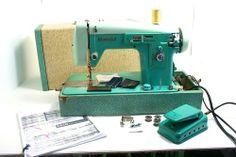 Turquoise White Sewing Machine $350 ebay july 28 13