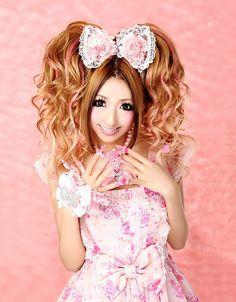 #bow #pink #hime #himegyaru | http://bonbonbunny.com/categories/gyaru