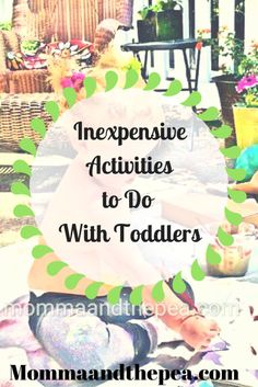 inexpensive activities to do with toddlers