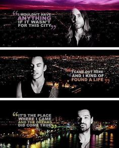 """Thirty Seconds To Mars """"City Of Angels"""" Jared, Shannon, & Tomo"""