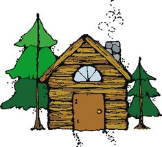 Camping themed clip art: Red, Blue and Green tents, campfire, log ...