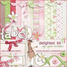 Delighted Kit - Digital Scrapbooking Kits DesignerDigitals